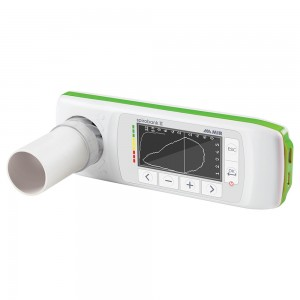The Spirobank II Basic spirometer measures basic spirometry parameters. If you need pulse oximetry, consider the Spirobank II Advanced Plus.